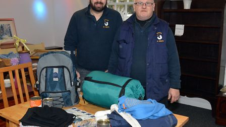 Trainee community support assistant Geoff Newman, companion rep Peter Harris