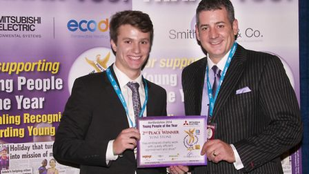 Yoni was awarded his prize by Justin Smith-Milne