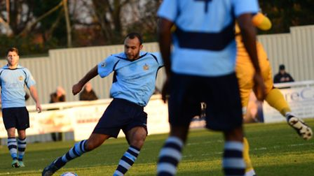 James Comley scored for St Albans City in their 2-1 loss at Sutton United. Picture: Bob Walkley