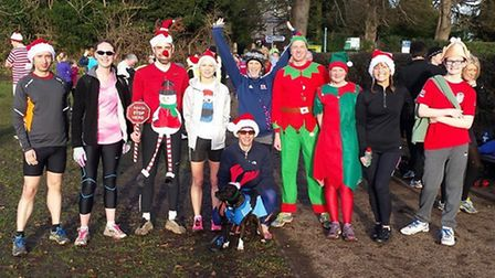 St Albans Striders embraced the festive spirit at the weekend's parkrun.