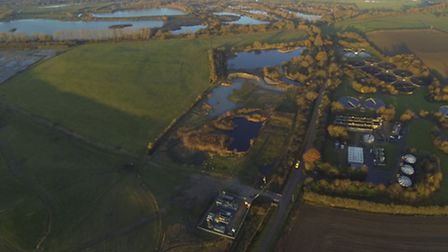 Aerial view over Godmanchester Nature Reserve. Picture: GEOFF SODEN.