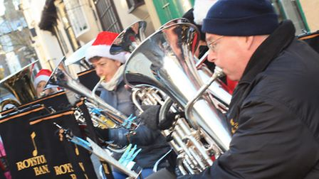 The Royston Town Band at Royston Christmas fair by Clive Porter