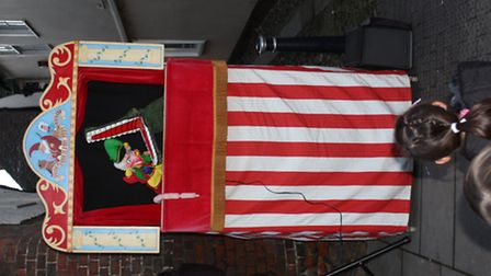 Punch and Judy at Royston Christmas Fair by Clive Porter