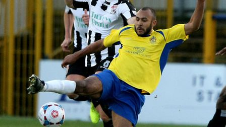 James Comley in action against Bath City. Picture: Leigh Page