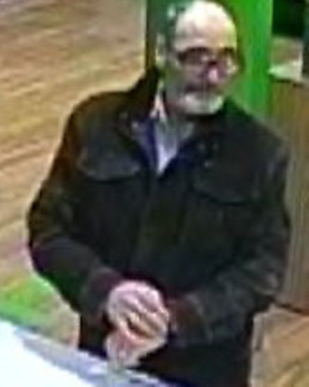 Police want to trace this man in connection with an attempted fraud investigation.