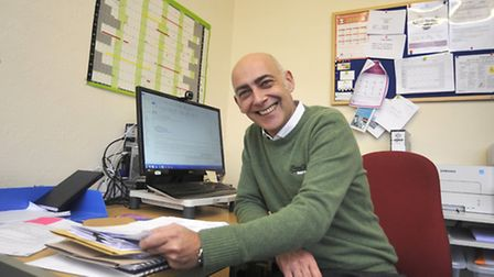 New BID manager Andrew Phillips in the Chequers Court office. Picture: HELEN DRAKE.