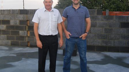 St Ives Rugby Club chairman Mark Smy (left) with treasurer Ross Thompson