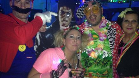 David dressed as Timmy Mallett with best dressed winner Super Mario and the gang