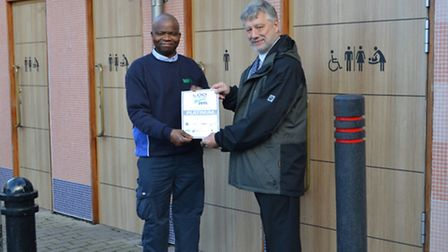 The public toilets in Royston have won the acclaimed prize