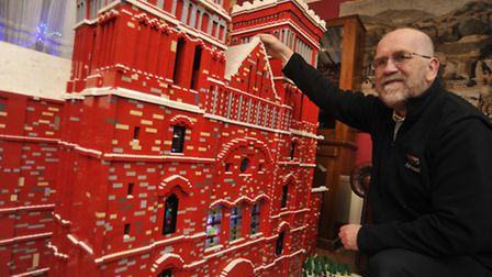 Mike Addis and the cathedral he built with Catherine Weightman. Picture: HELEN DRAKE.