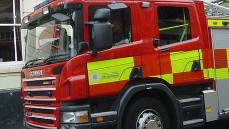 An elderly man was given oxygen therapy after trying to tackle the fire himself.