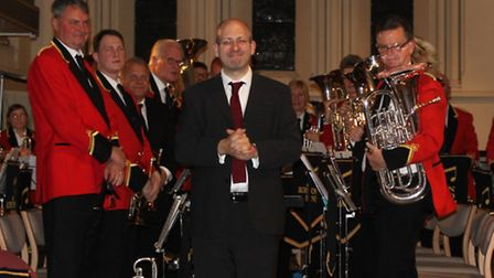 Royston Town Band performing at their 150th anniversary.