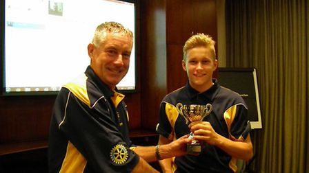 David Sayer (right) has been called up to the England Under 17 cricket squad.