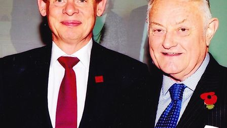 Martin Clunes and John Featherstone