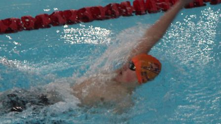 St Ives Swimming Club star Ollie Fitt who won two regional gold medals.