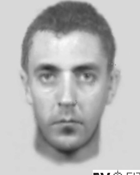 An evo fit image of a man police want to speak to in connection with the burglaries.