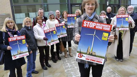 Molesworth Wind Farm Action Group, campaigning on day one of hearing at Huntingdonshire District Cou