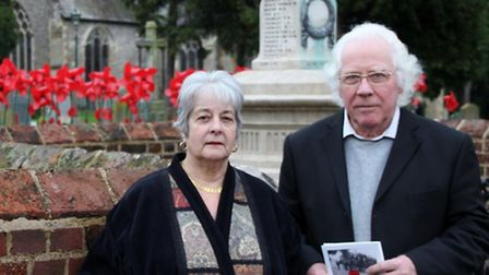 Terry and Margaret Pankhurst have been researching the names on Wheathampstead's war memorial
