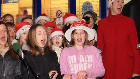 Pupils from Greneway School singing carols at last year's event. Credit: Clive Porter.