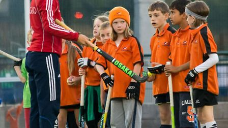 Ellie Watton leading a masterclass at Oaklands. Picture: Chris Hobson