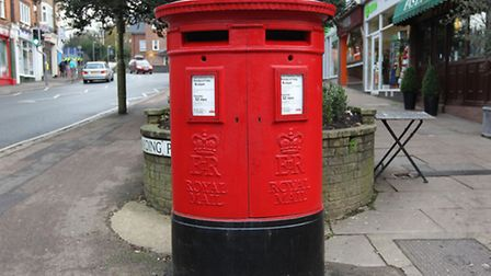 The post box on the corner of Station Road and Arden Grove