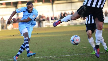 Michael Malcolm scored his second goal in as many games for St Albans City on Saturday against Maide
