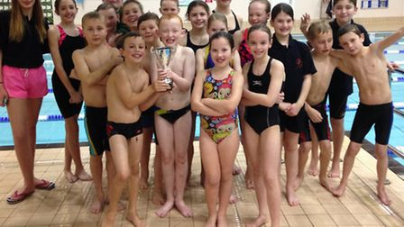 The team from St Ives Swimming Club who won a Mini Swim Gala at Peterborough.