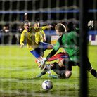 John Frendo scores the Saints first goal of the afternoon. Picture: Leigh Page