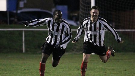 Courtney Lawrence scored twice against Hertford.