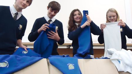 New and second-hand uniform from Melbourn Village College is set for a new life at a school in Bosni