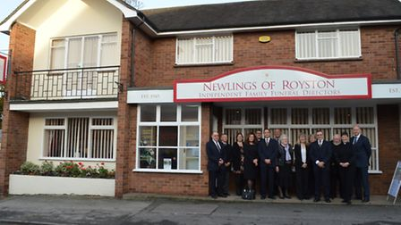 The team at Newlings Of Royston funeral directors