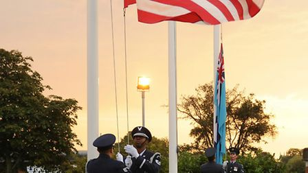 The Battle of Britain is marked during a ceremony at RAF Alconbury