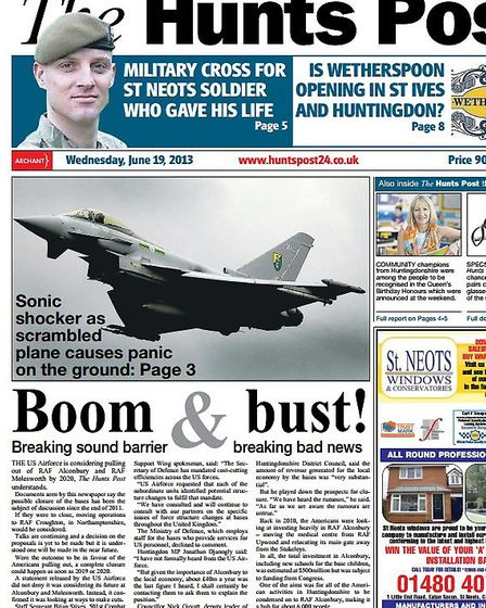 The Hunts Post of Wednesday, June 19 2013 reveals the United States Airforce is planning to leave RA