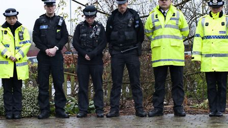 A moment of silence has been held by Herts Police as part of a national show of solidarity