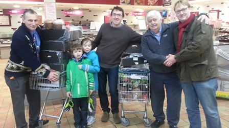 Christmas hamper collection at Morrisons