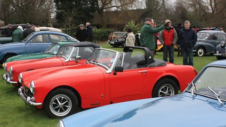 Several vehicles were displayed at the New Year Classic Car meeting on Barrington Village Green by C
