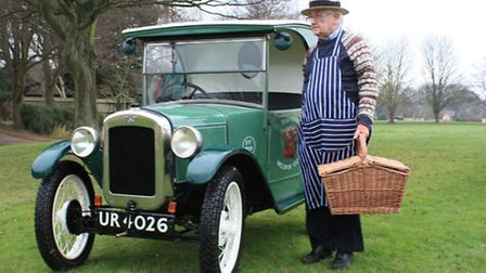 Shepreth classic car enthusiast, Ben Hogan proudly presents his newly acquired rare 1929 Austin 7 fo