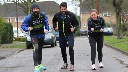 Mohammed Ali was joined for his final run by partner Patrycja Stepien and friend Dan Mitchell before