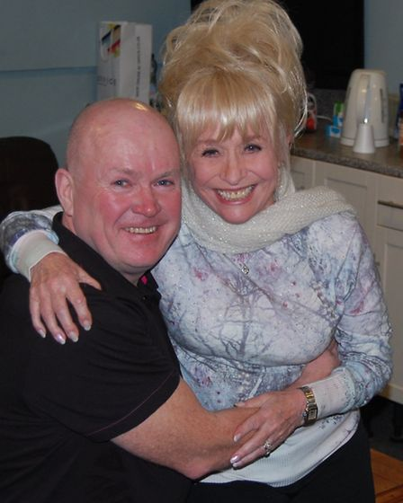 Barbara Windsor was reunited with her on-screen son at the panto last week