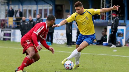 Nathan Green in action against Hemel Hempstead Town. Picture: Leigh Page