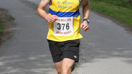 Graham Smith finished 19th in the mens 12,000m race at the Hertfordshire County Cross Country Champi