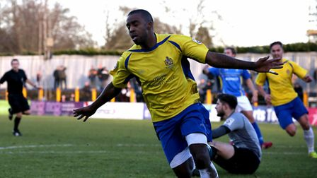 Michael Malcolm is flying first class after scoring on his league debut for the Saints against Conco