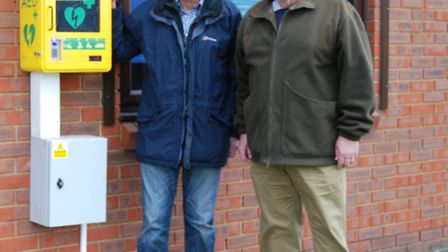 Cllr Bill Pryce, chairman of the leisure committee and Cllr Mick Freeman, chairman of St Stephen par