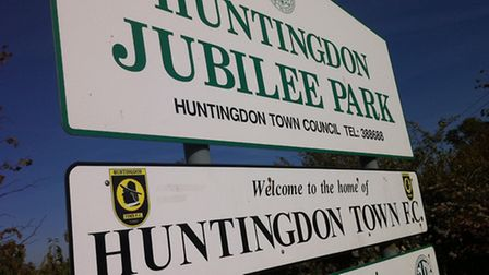 Jubilee Park, the home of Huntingdon Town.