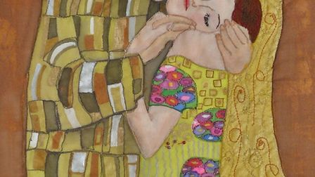 The Kiss (after Klimt) by Brenda Brown