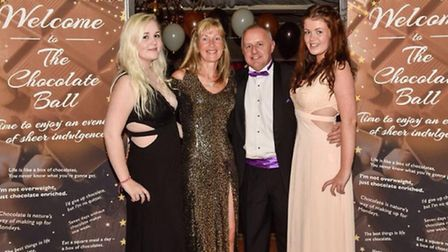 Jess Coot, Kath and Peter Barker and Sophie Coot from The Chocolate Wrapper