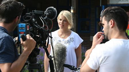 Holly Willoughby at Keech Hospice