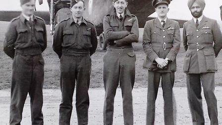 The Stirling bomber crew.