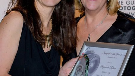 Stephanie Belton (left) and Lesley Thirsk, Director of the Guild of Photographers (right)
