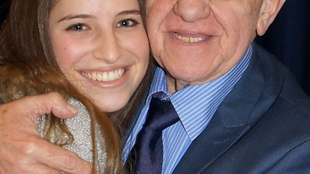 Holocaust survivor Zigi Shipper and his grand daughter year 13 student Holly Simmons at STAGS